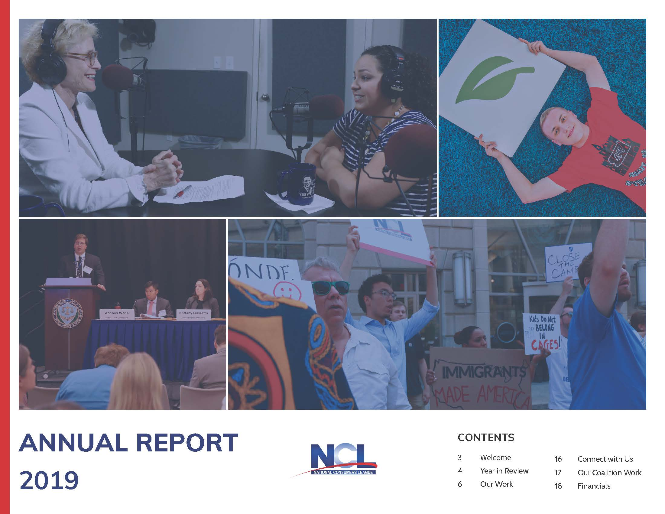 NCL Annual Report 2019 Cover image